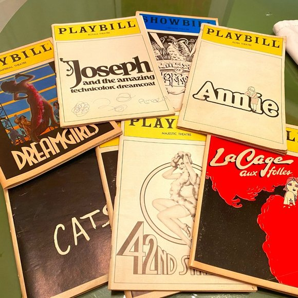 8 Vintage Broadway Playbills from Early-Mid 80's